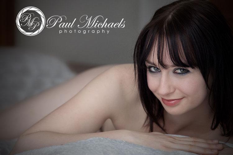 Boudoir portraits with Paul Michaels photography.