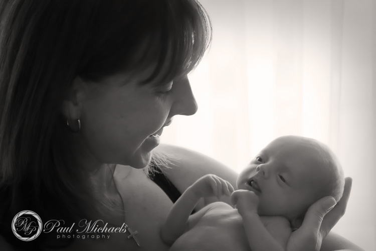 Mum and baby portrait.