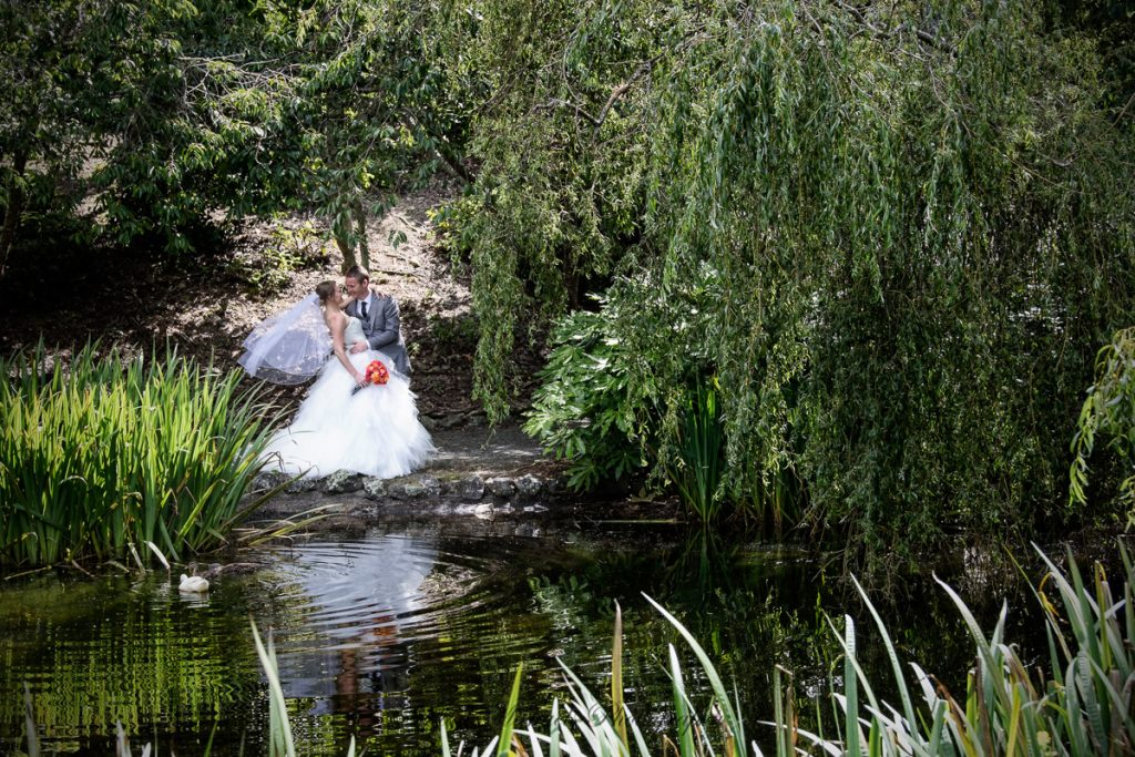 Bride & Groom at Aston Norwood Pond