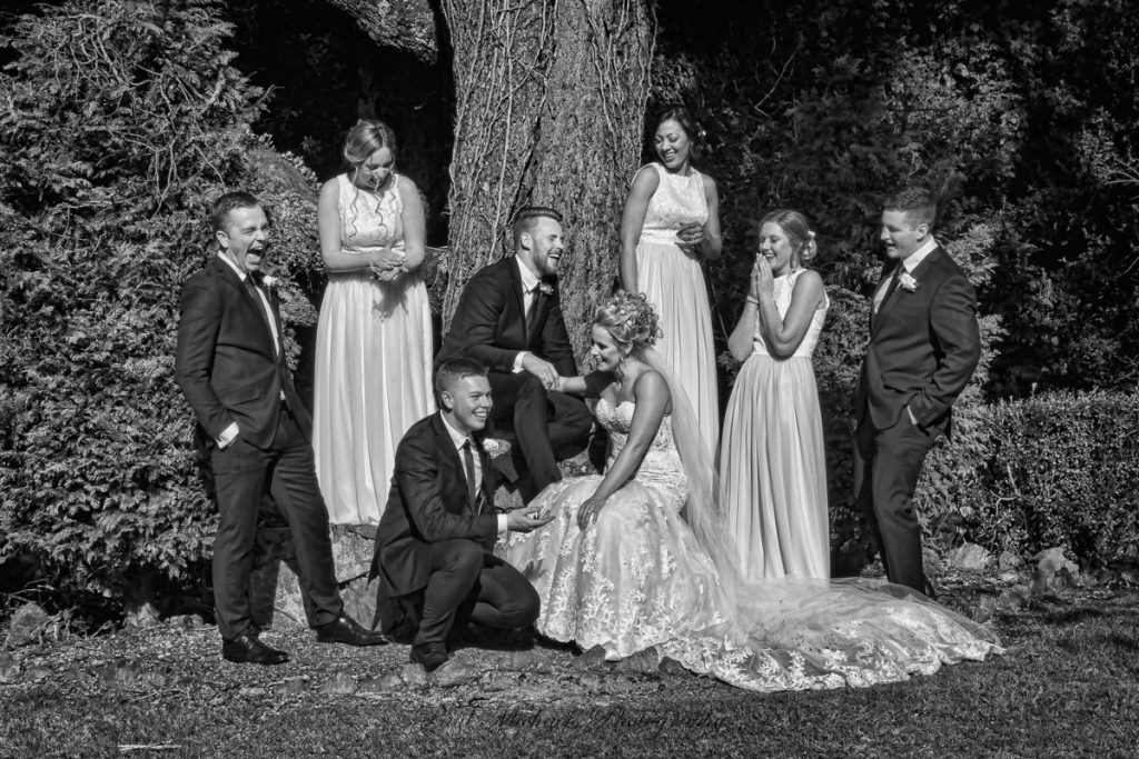 Josh ,Emma and bridal party at Aston Norwood