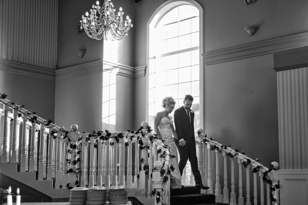 Bride and Groom arriving at Reception at Aston Norwood