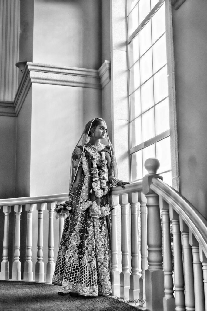 Lovely Bride at Aston Norwood staircase