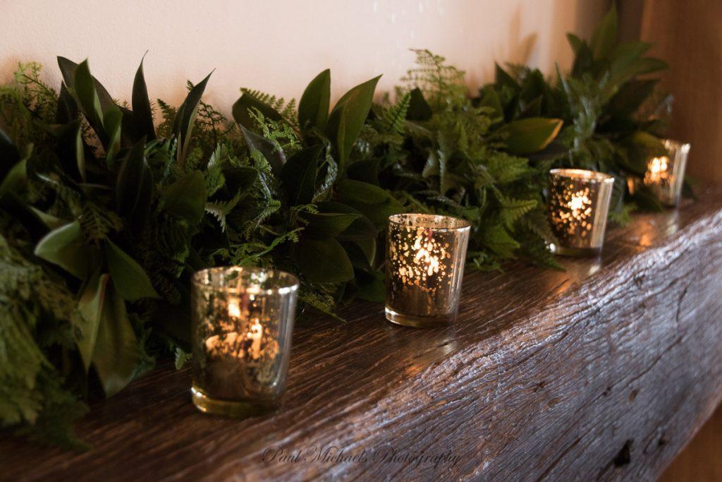 Candles at reception boom rock