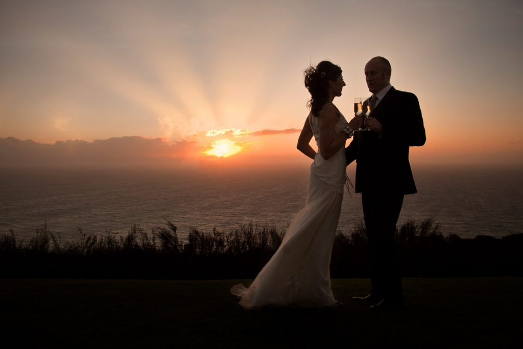 Boomrock sunset photo with happy couple.