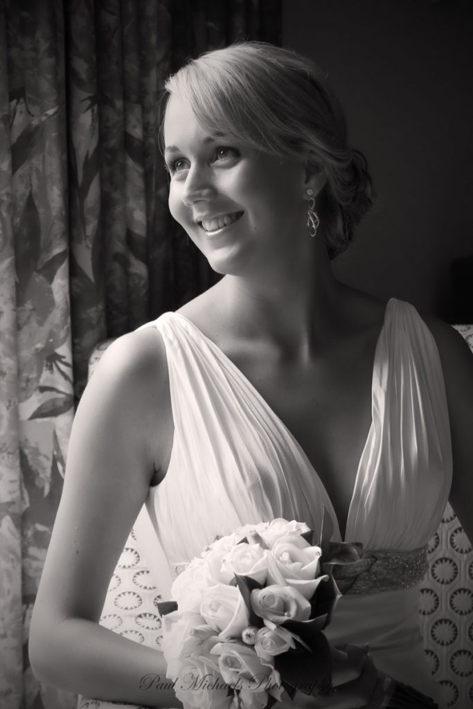 Bride before the ceremony
