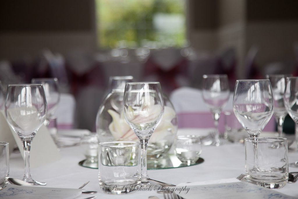 Glasses and place settings