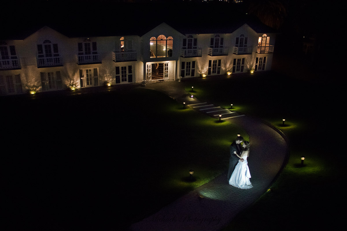 Wallaceville house at night