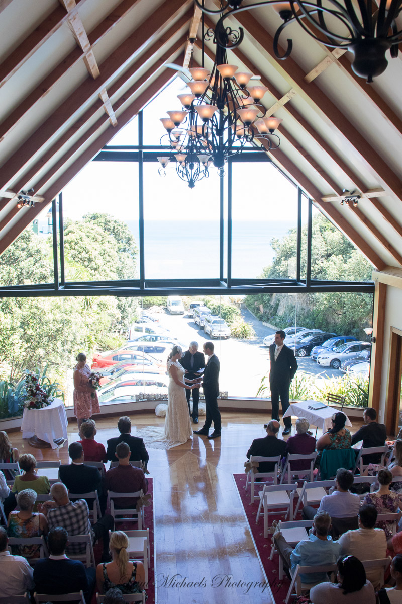 Vows at the Pines chapel