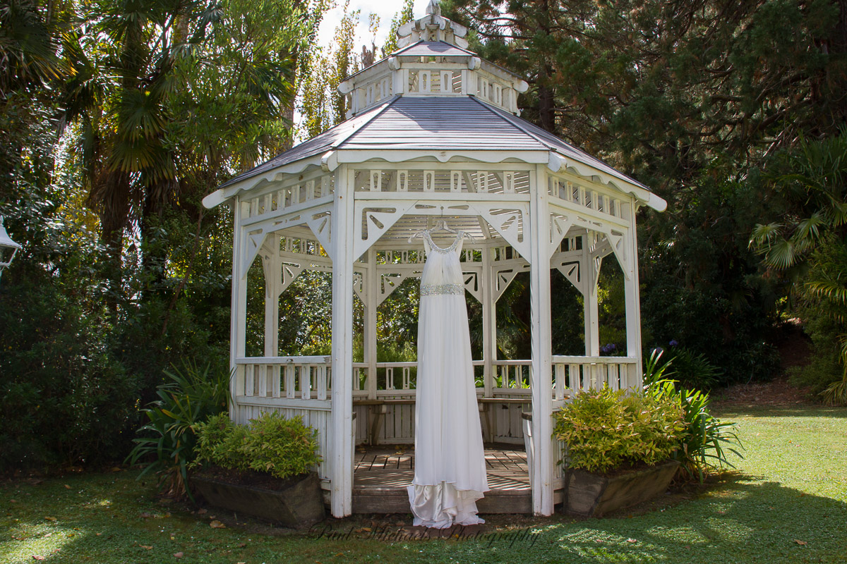 Dress in the gazebo