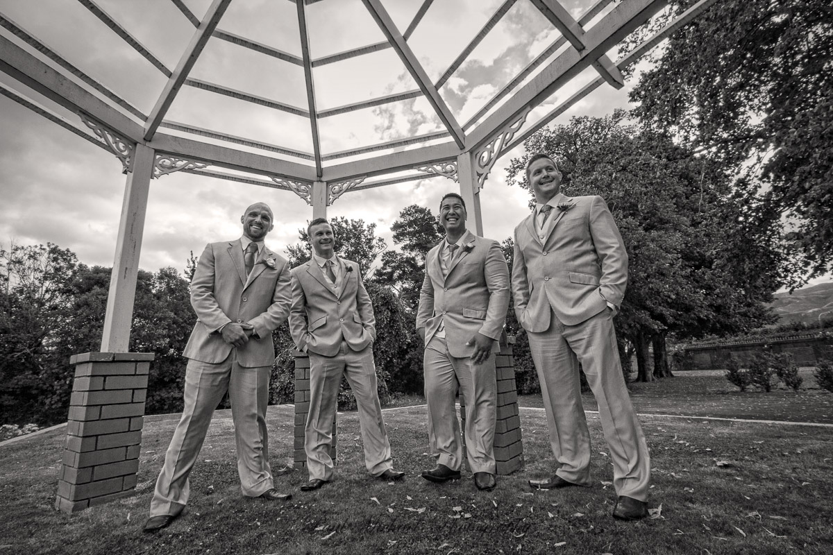 The boys waiting for the bride