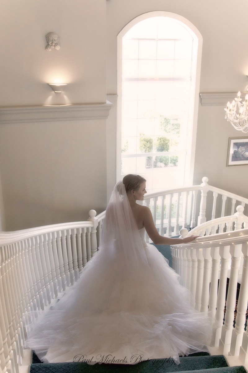 Down the stairs to the ceremony