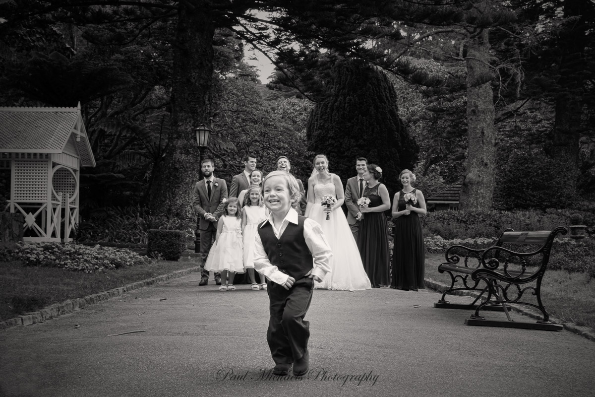Cute kid in the bridal party.