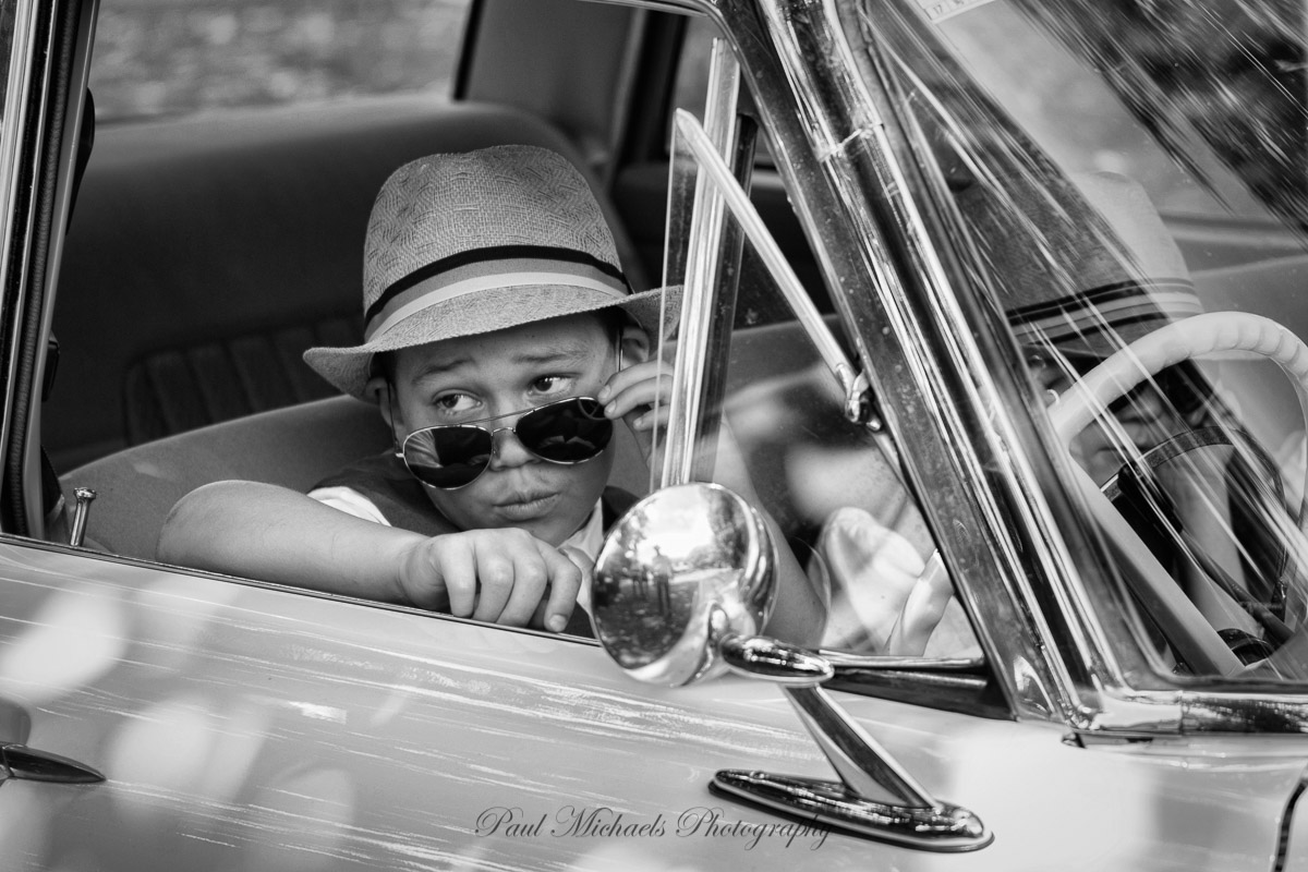 Cool car driver.