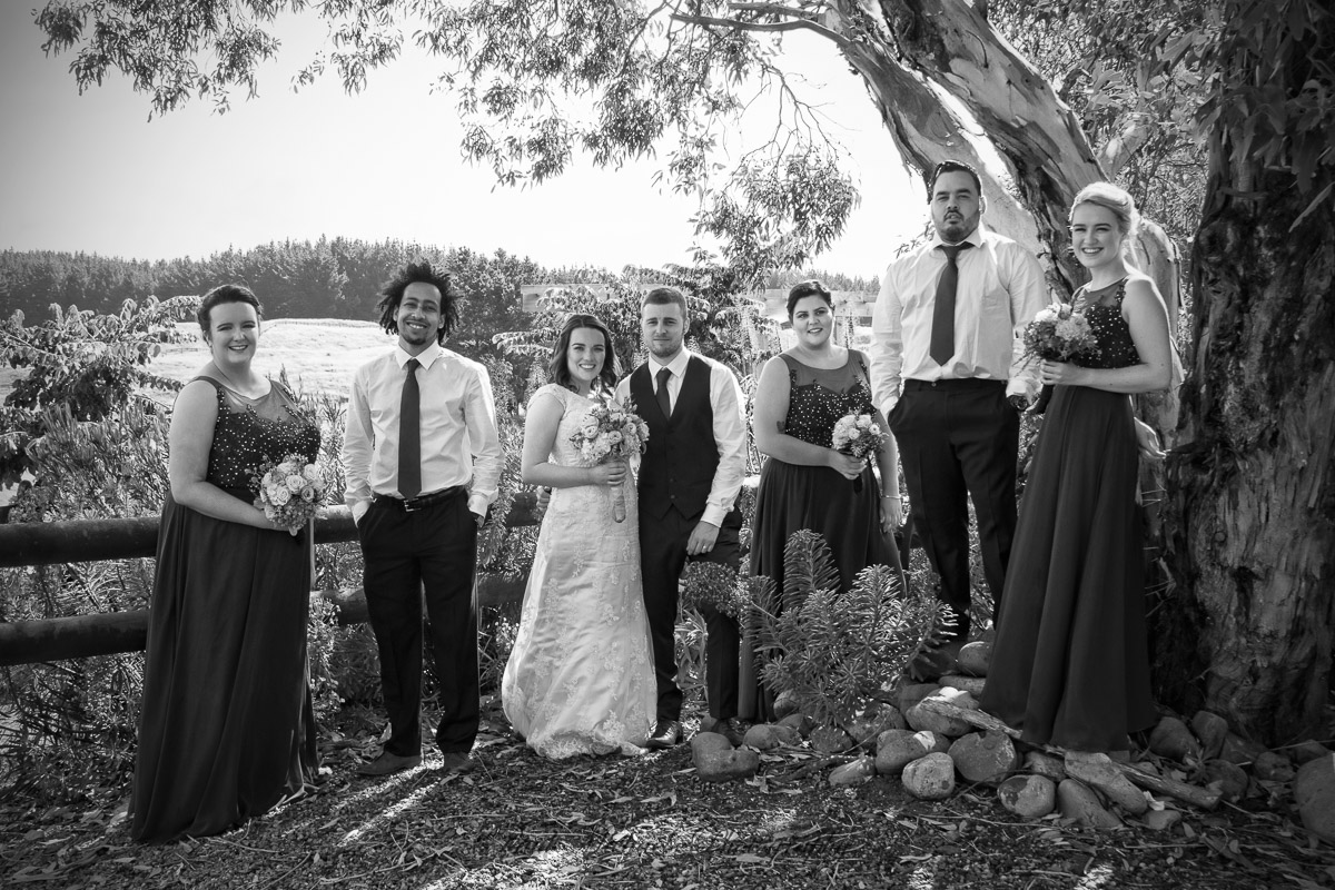 Bridal party at venue