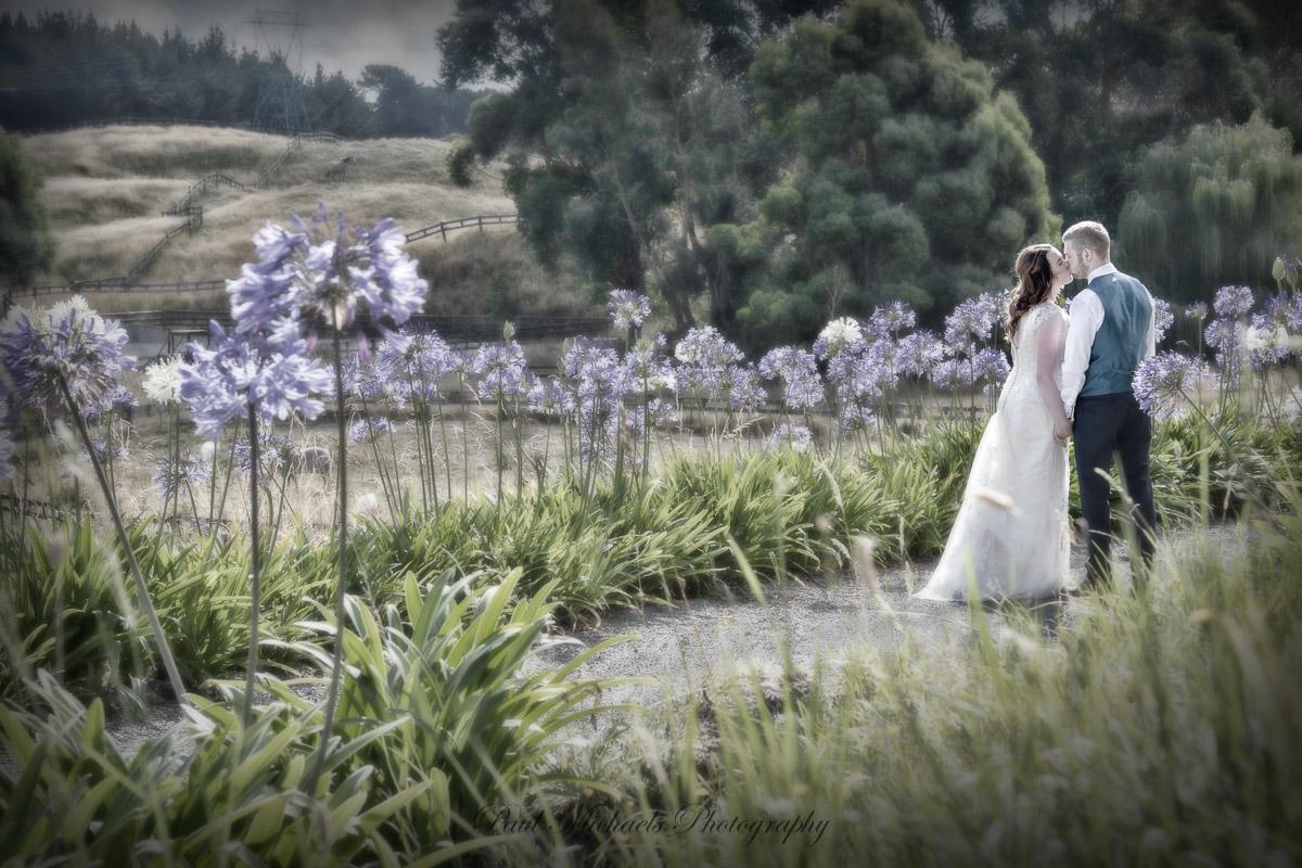 bride and groom at sudbury farm