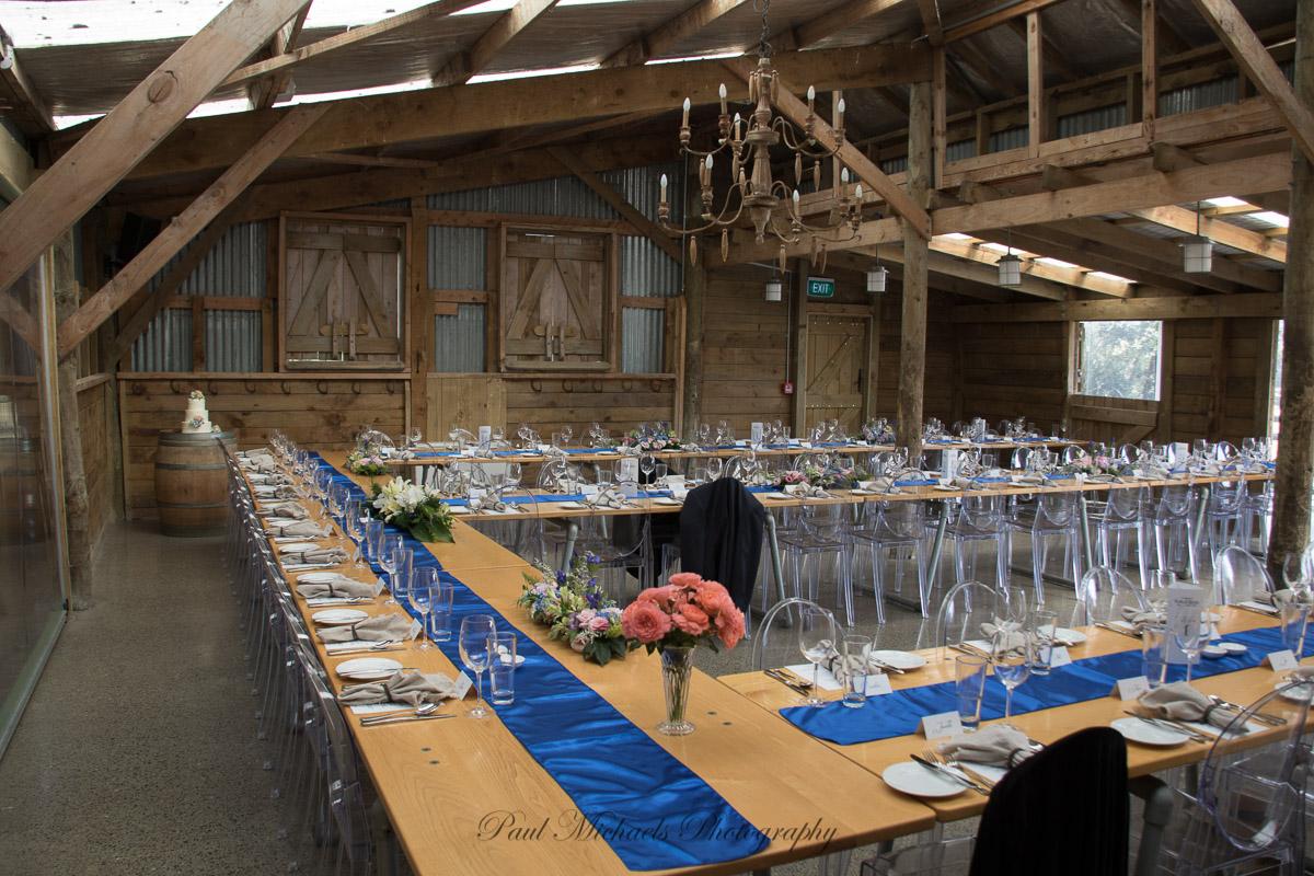 Table layout at Sudbury farm
