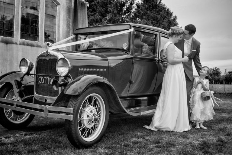The wedding car