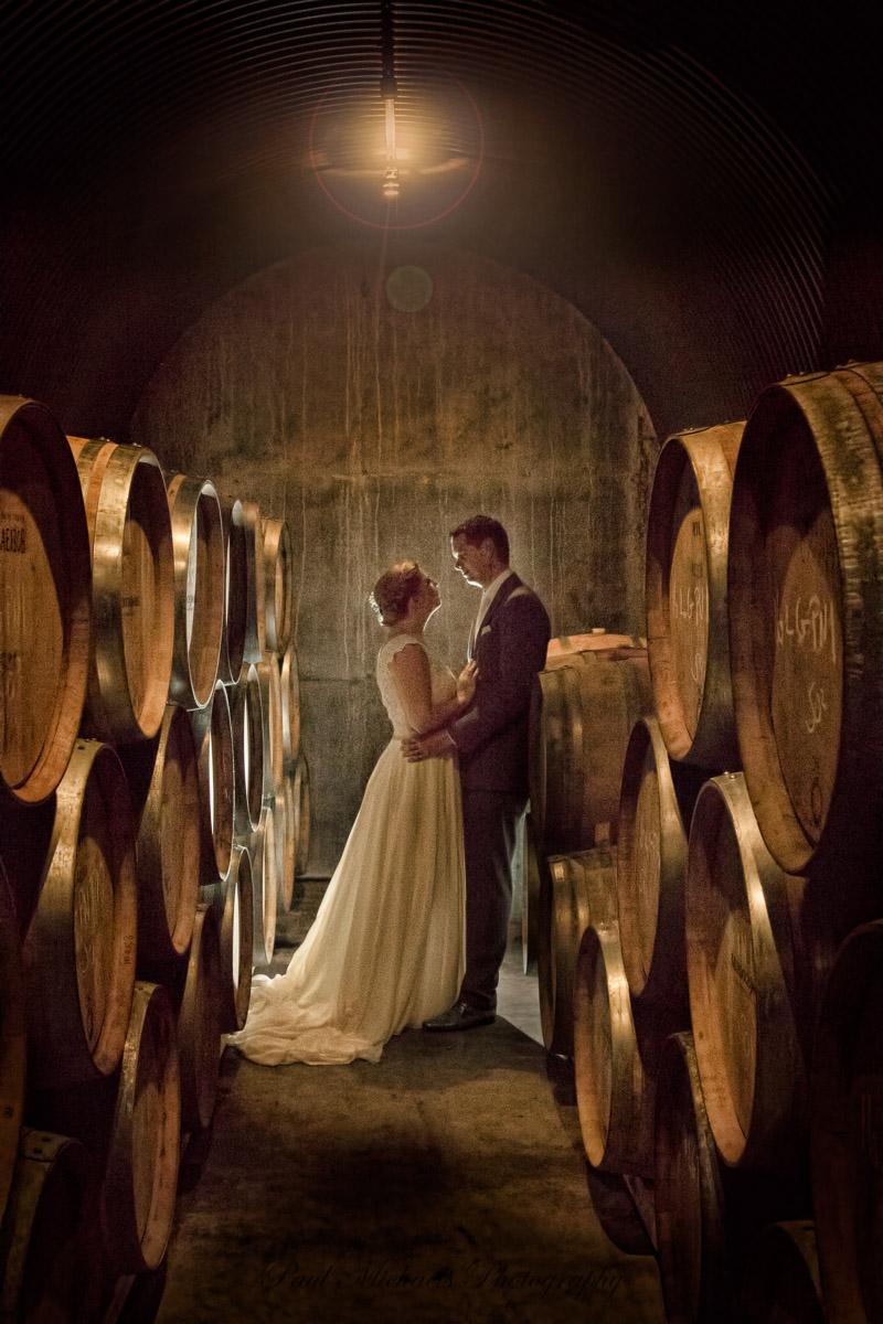 Romance in the wine cellar