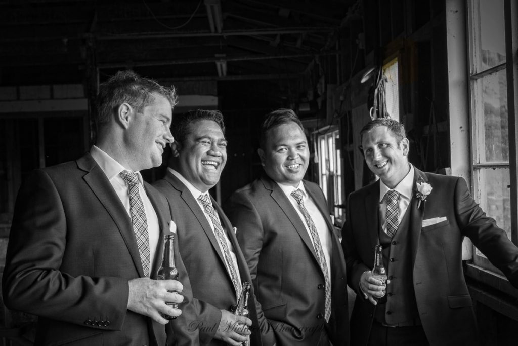 The boys in the old shearing shed