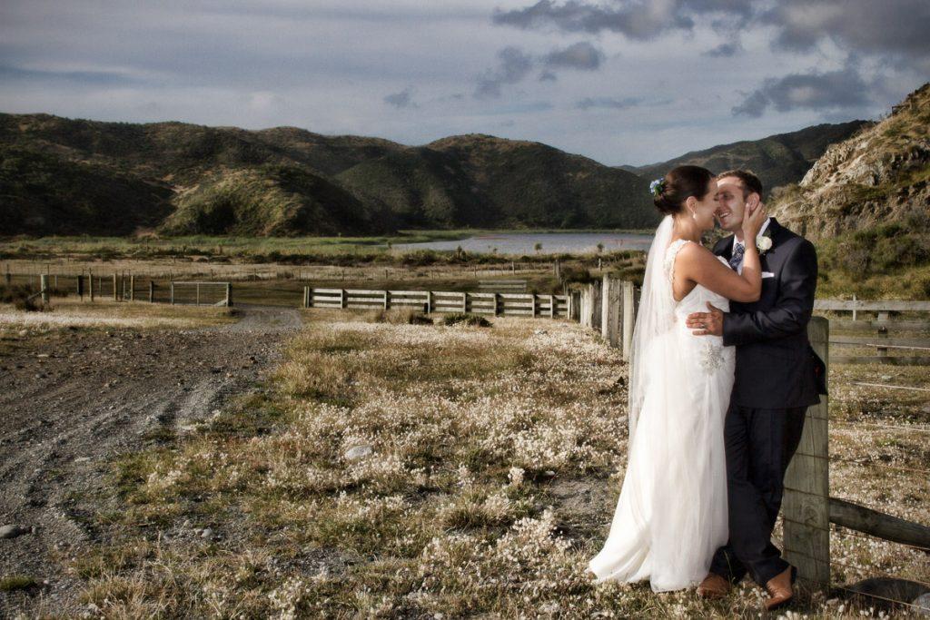Kiss by the Pencarrow lake