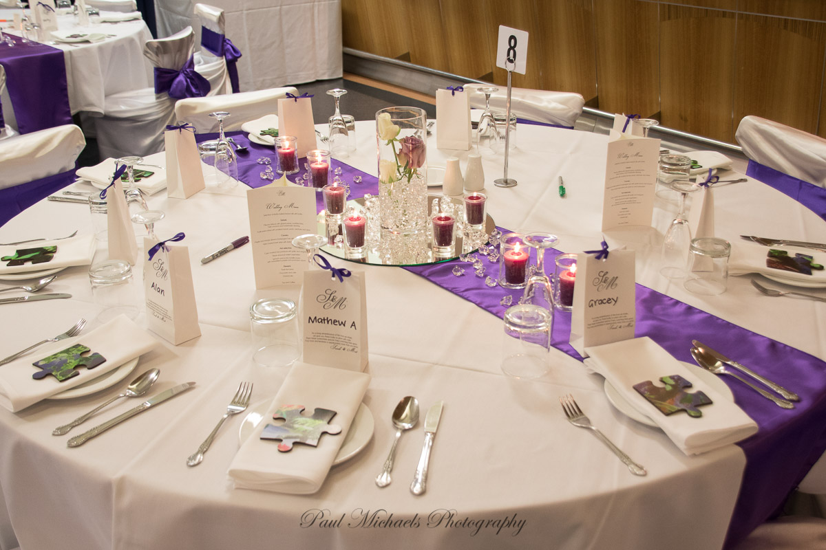 Table settings at the racecourse