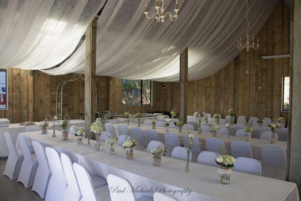 The reception setup
