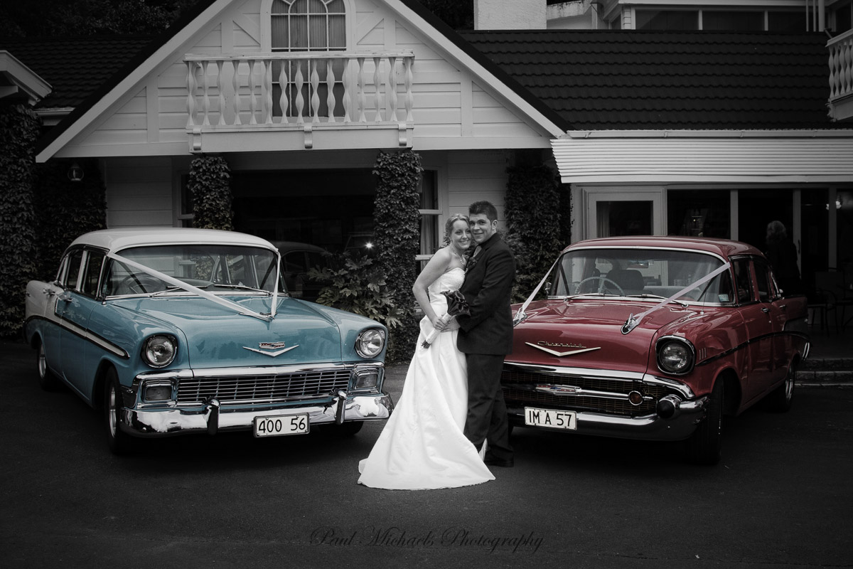 The wedding cars