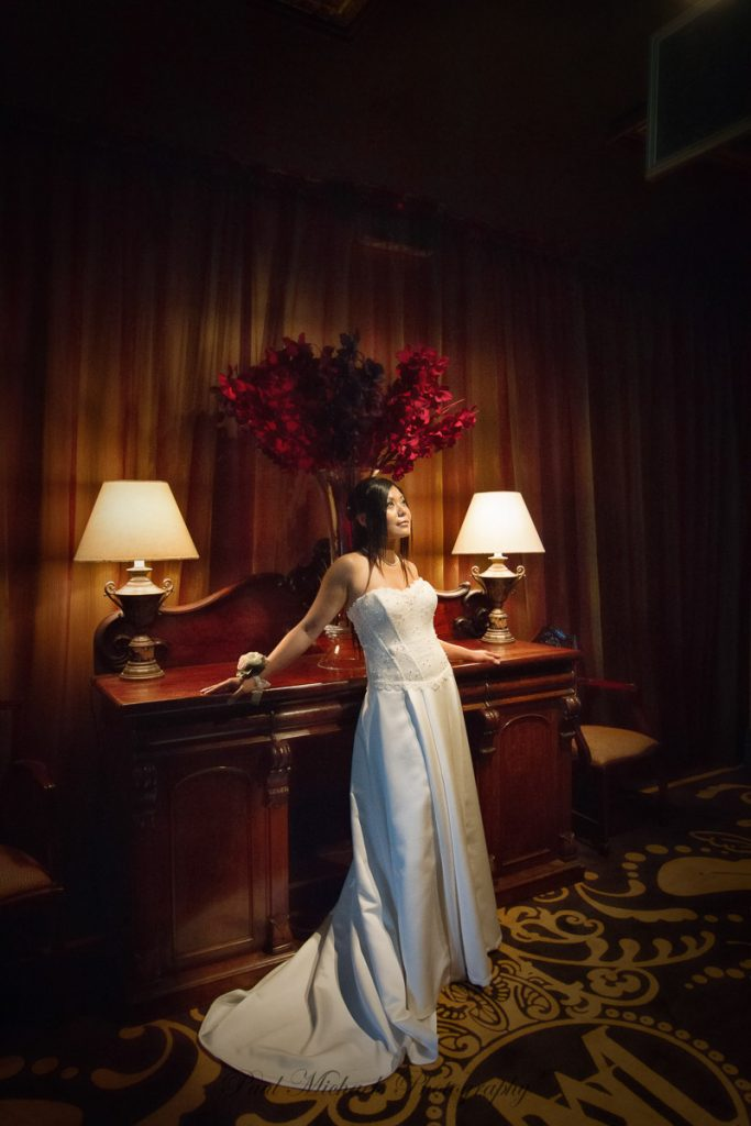 Bride at the museum hotel