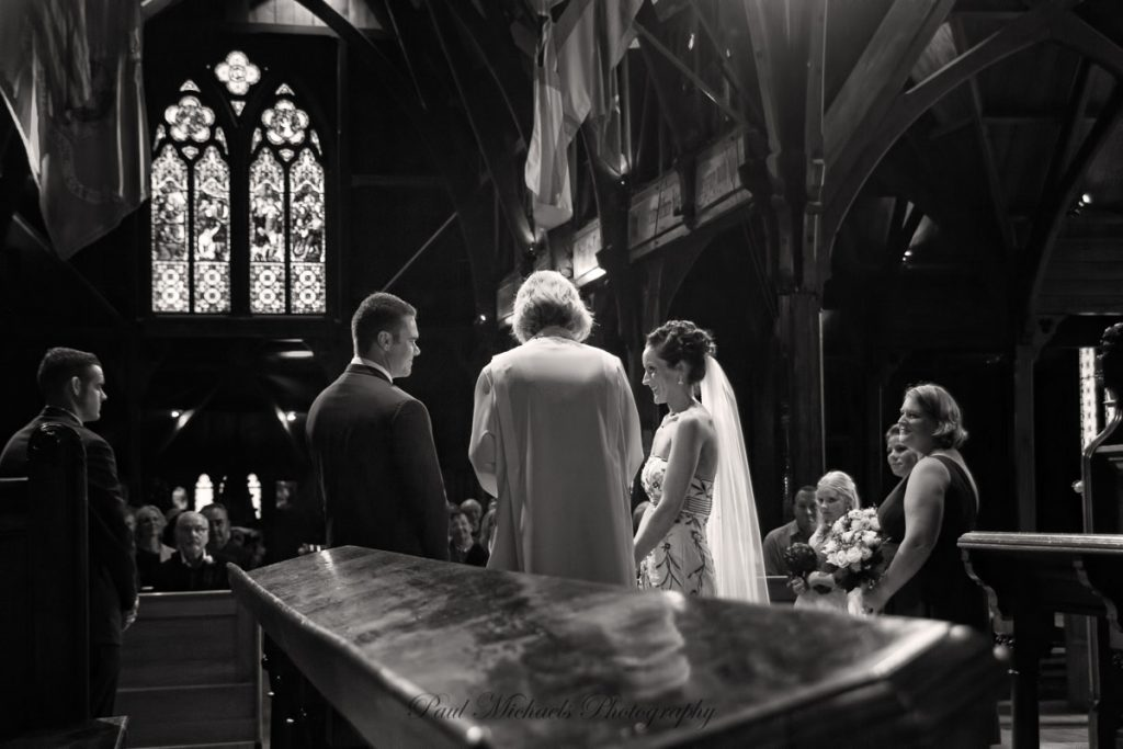The vows at Old St Pauls church