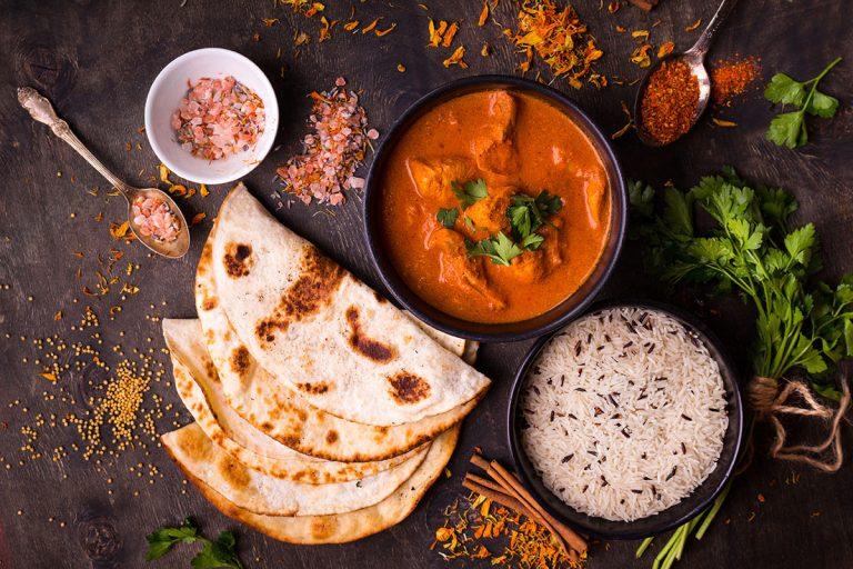 Indian food marketing display